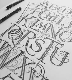 Handmade lettering by Mateusz Witczak Designs