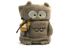 Check out this Owl Stuffed Animal Blanket!