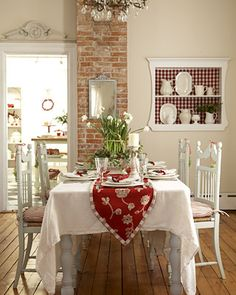 a Swedish Christmas ~~ in red and white
