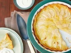 Recipe of the Day: Ina's Pear Clafouti Put juicy-sweet pears on a pedestal in Ina's elegant French-style dessert. Splay ripe Bartlett pears in a baking dish and bathe in an easy-to-make pancake-like batter. Once baked until beautifully golden, a sprinkling of powdered sugar and a dollop of creme fraiche makes it dinner party-ready.