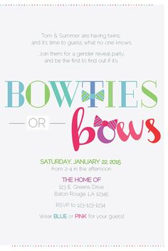 Bowties or Bows  Gender Reveal Party by apinchoflovely on Etsy, $2.50