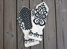 Hedvig Handarbetar: Vantar. #mittenS:-) Knitted Mittens Pattern, Knit Mittens, Knitted Gloves, Knitting Socks, Hand Knitting, Knitting Stitches, Knitting Patterns, Norwegian Knitting, Knitting For Charity