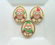 owl christmas cookies