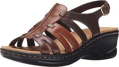 Clarks Womens Lexi Marigold Q Brown Multi Leather Sandal 8 A  Narrow -- You can get more details by clicking on the image.(This is an Amazon affiliate link and I receive a commission for the sales)