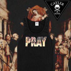 """Schon entdeckt? Das schwarze Cayler & Sons Tanktop """"Pray"""" ist in den Größen M - XXL für 29,99 Euro im SNIPES Onlineshop erhältlich. Mehr Auswahl von Cayler & Sons findest du unter: www.snipes.com/caylerandsons #caylerandsons #snipes #streetwear"""