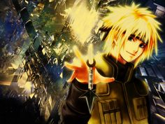 Hot Anime Fourteen Naruto Facts about Minato Namikaze! - Minato Namikaze was the Fourth Hokage of Konohagakure. He died during the Nine-Tails' attack on Konoha, sacrificing his life to seal a part of the Nine-Tails into his newborn son, Naruto Uzumaki. Naruto Fan Art, Anime Naruto, Minato Y Naruto, Naruto Shippuden Hd, Kakashi, Anime Guys, Boruto, Hot Anime, Best Naruto Wallpapers