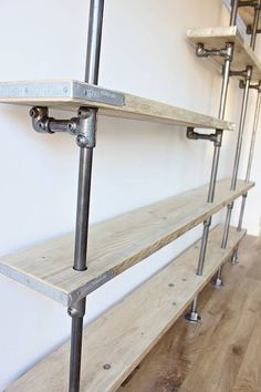 Scaffolding Board And Steel Pipe Shelving