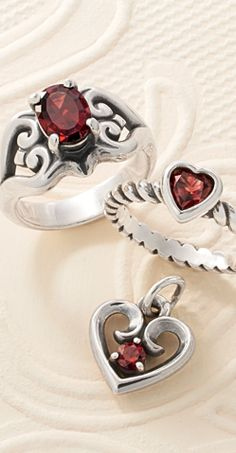 89154dbb9 Ring in the New Year with Garnet, the birthstone for January and the  anniversary gemstone for the 2nd year of marriage. #JamesAvery