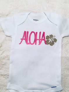 HAWAII STATE Novelty Themed Baby Grow //Suit American Aloha America Fun