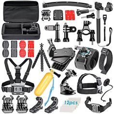 77252b0c6d1 Sport Accessory Kit for GoPro Session Hero+ 4 5000 6000 7000 Xiaomi Yi in  Swimming Rowing Skiing Climbing Bike Riding Camping Diving and Other Outdoor  ...