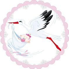 Baby Stork, Baby Shawer, Baby Cartoon Drawing, Cartoon Drawings, Letras Baby Shower, Scrapbooking Image, Baby Images, Baby Shower Balloons, Welcome Baby