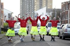 Safety kilts for construction workers.