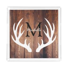Shop Rustic White Deer Antlers Barn Wood - Personalized Napkins created by GrudaHomeDecor. Diy Rustic Decor, Rustic Home Design, Rustic Signs, Rustic House Decor, Rustic Style, Rustic Decorating Ideas, Rustic Country Decor, Country Wood Signs, Rustic Wood Crafts