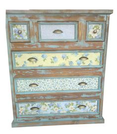 46 veces he visto estas magníficas muebles vintage. Small Furniture, Funky Furniture, Recycled Furniture, Shabby Chic Furniture, Decoupage Furniture, Hand Painted Furniture, Paint Furniture, Furniture Design, Transforming Furniture