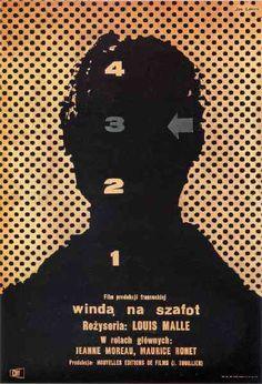 """MP542. """"Ascenseur pour l'échafaud"""" Polish poster by Jan Lenica (Louis Malle 1958) / #Movieposter"""