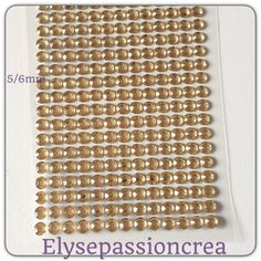grande applique plaque de 260 strass autocollant forme diamant couleur champagne transparent 5/6 mm : Embellissements par elyse-passion-crea