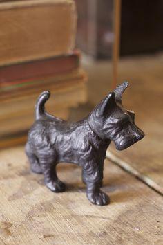 cast iron black scottie dog atwestend.com  $20.00
