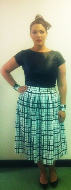 My outfit for the Llangollen Festival, July 10, 2014. Top: custom made by Jan Boelo, skirt by ASOS and shoes by LK Bennett.