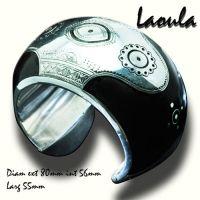 Bracelet large rigide en argent et bois d'ébène création la bijouterie Toulouse Laoula.