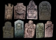 Haunted Mansion background headstones