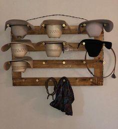 Cowboy Home Decor, Western Bedroom Decor, Western Rooms, Western Hats, Cowboy Bedroom, Cowboy Hat Rack, Hat Storage, Hat Holder, Dream Rooms