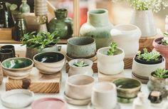 A banquinha da Olive Cerâmica na Fêra Féra em julho - vem conhecer um pouco…
