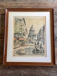 Vintage Original Watercolor Franz Herblot 21/882 Paris Le