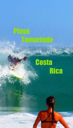 Surfing at Tamarindo Beach -  Nicoya Peninsula, Guanacaste, Costa Rica http://costa-rica-guide.com/top-10/nicoya-top10/