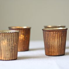 bronze tea light holders