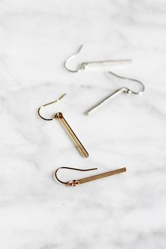 Flat Modern Bar Earrings - Christine Elizabeth Jewelry #14k-gold-filled…