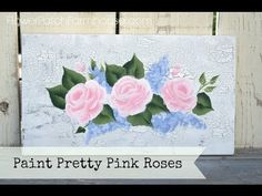 How to Paint A Beautiful Rose in 3 Minutes! - Flower Patch Farmhouse
