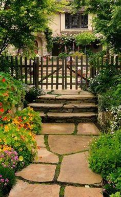 flagstone walkway - for front yard walk