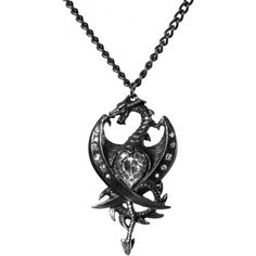 Visit our shop for the Diamond Heart necklace pendant by Alchemy Gothic, set with 11 Swarovski crystals.