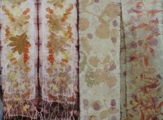 Lori Lawson - eco dyeing - eucalyptus, oak leaves, coreopsis