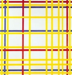 Piet Mondrian. New York City 1942. Óleo sobre lienzo 119x114 cm. Musée National d'Art Moderne, Paris