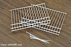 DIY Wire Shelf Dividers (great for the linen closet)! - I was tackling one of the most embarrassing areas in my house, the linen closet, when I hit a speed bump… Closet Shelf Dividers, Linen Closet Organization, Closet Shelves, Diy Organization, Closet Space Savers, Cheap Closet, Wire Shelving, Shelving Ideas, Storage Ideas