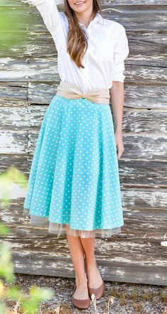 Dorothy Skirt in Mint Green
