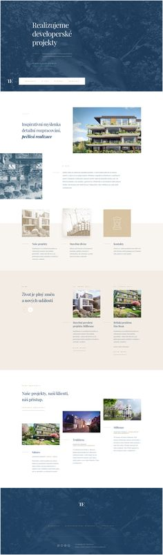 Web Design Inspiration - Blue, Tan - Masculine