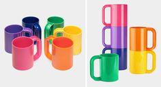 Rainbow Mugs by Vignelli Associates