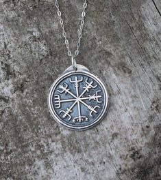 Viking rune vegvisir wax seal fine silver pendant sterling silver necklace by ALMrozarka on Etsy Silver Pendants, Sterling Silver Necklaces, Silver Jewelry, Vegvisir, Viking Runes, Linen Bag, Handmade Jewelry, Handmade Silver, Wax Seals