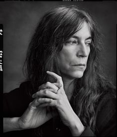 Patti Smith (1946) - American singer-songwriter, poet and visual artist. Photo Annie Leibovitz