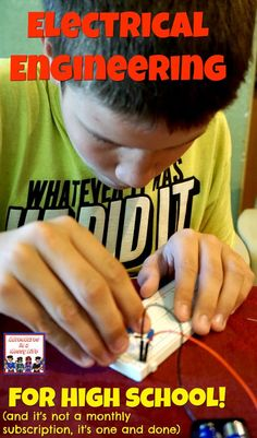 electrical engineering for high school #homeschoolscience #STEM #homeschooling High School Activities, Homeschool High School, Homeschool Curriculum, Stem Activities, High School Science Projects, Engineering Projects, Engineering Technology, Stem Projects, Stem High School