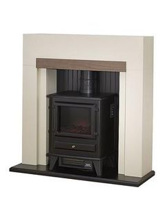 The Adam Salzburg Electric Fireplace Suite with Stove at Homebase -- Be inspired and make your house a home. Buy now. Small Electric Stove, Electric Log Burner, Electric Fires, Electric Fire Suites, Electric Fireplace Suites, Fire Surround, Walnut Veneer, New Homes, Tiny Homes