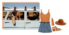 """driving toward the morning sun"" by kananmatsuura ❤ liked on Polyvore featuring Chicnova Fashion, Miss Selfridge, Institut Esthederm and Phase 3"