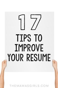 17 tips to improve resume