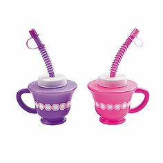 "Tea Party Novelty Cups - these are perfect for the little ones who have an ""Ava's Secret Tea Party."""