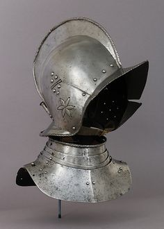 Medieval Knights Neck Plate Armor Gorget With Helmet Museum Copy Reproduction Army Helmet, Helmet Armor, Arm Armor, Suit Of Armor, Medieval Helmets, Medieval Weapons, Medieval Knight, Larp Sword, Armadura Medieval