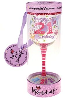 hand painted wine glasses for 21st birthday - Google Search