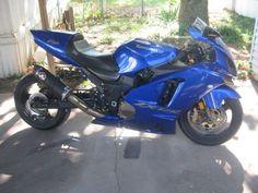 2004 Kawasaki NINJA ZX-12R Sportbike , Blue, 19,000 miles for sale in Wichita, KS