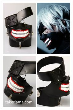 This Tokyo Ghoul 2 Kaneki Ken Cosplay Masks is made of Latex, the size is adjustable and fit for the people who head circumference is The mouth of the mask is zipper-up, which can be opened and closed. Anime Halloween, Halloween Costumes For Girls, Halloween Cosplay, Halloween Art, Cosplay Diy, Cosplay Outfits, Anime Outfits, Anime Costumes, Cosplay Costumes